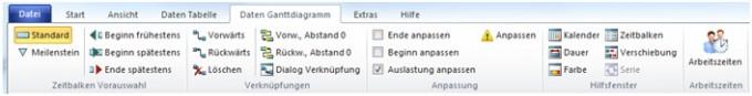 A-Plan 12.0: Aufteilung der Register in Multifunktionsleiste