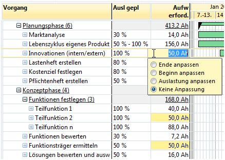 A-Plan 12.0: Mehrfachauswahl bei der Tabellenbearbeitung