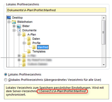 A-Plan 12.0: Profilverzeichnis