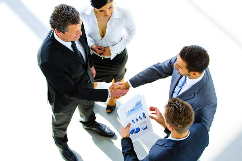 Treffen mit Kunden