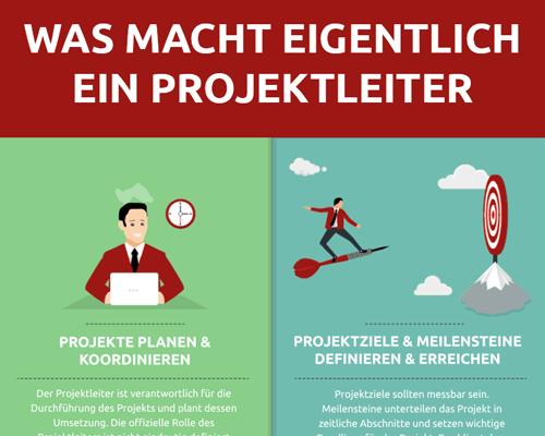 Infografik Aufgaben eines Projektleiters
